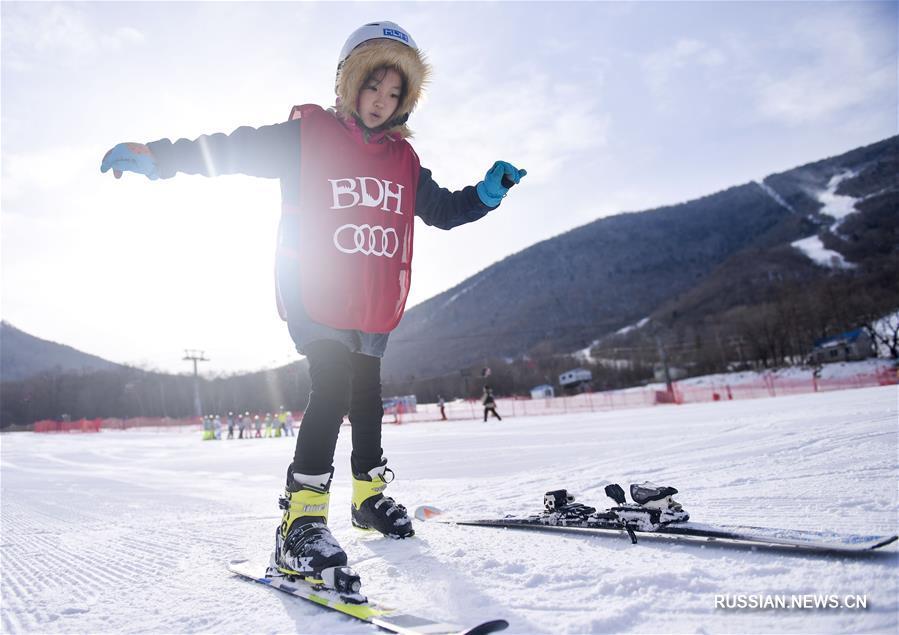 """Провинция Цзилинь реализует программу """"Миллион учащихся занимаются зимними видами спорта"""""""