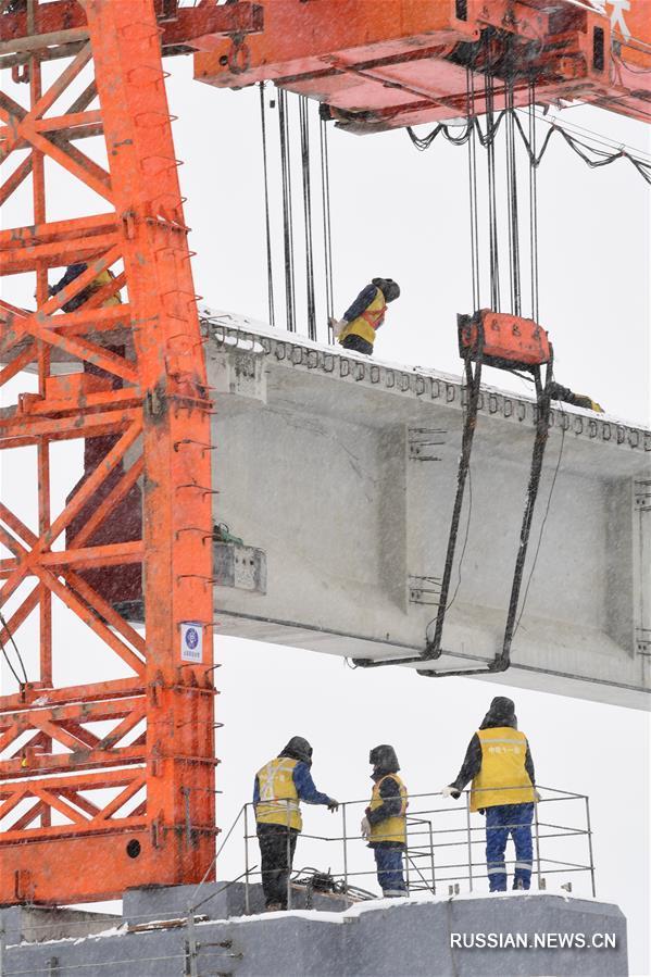 Продолжается строительство Лхаса-Ньингчи --  участка железной дороги Сычуань-Тибетский АР