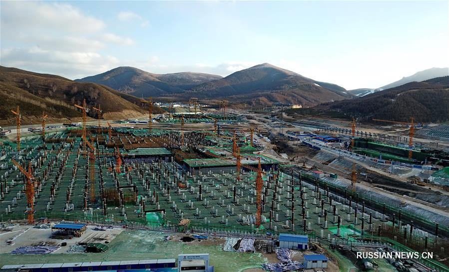 Строительные работы в соревновательной зоне Чжанцзякоу зимней Олимпиады-2022 идут по плану