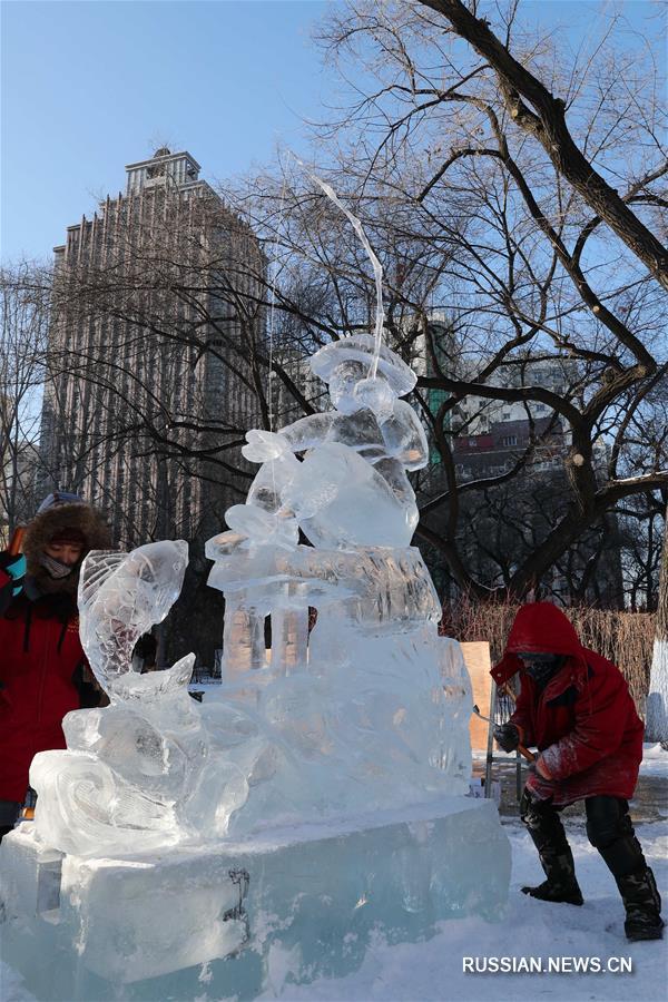 Студенческий конкурс ледяных скульптур завершился в Харбине