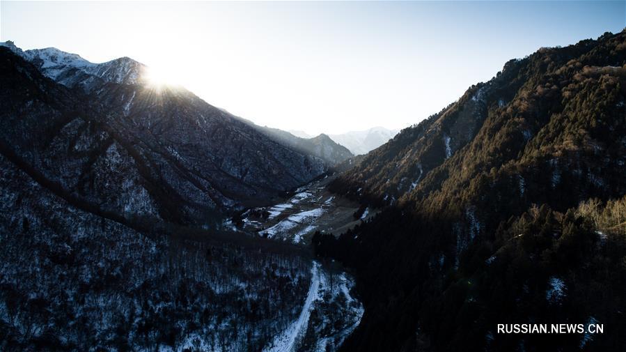 Заповедные горы Бэйшань на северо-западе Китая