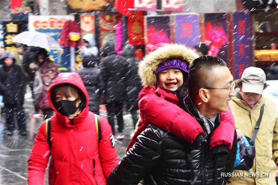 Тяньцзинь после снегопадов