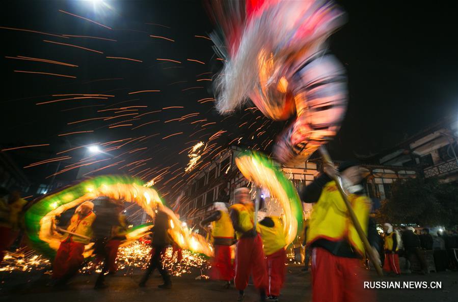 Танец драконов в Гуйчжоу