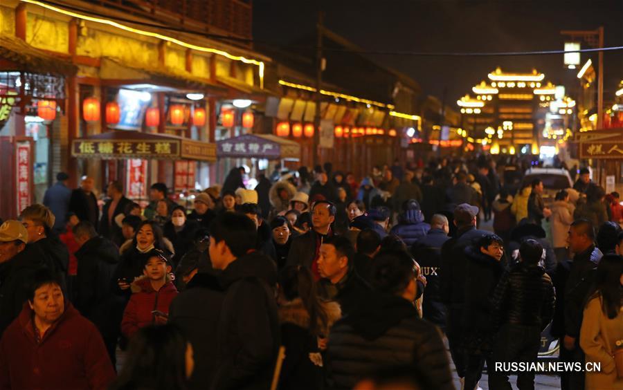 Ночная иллюминация в древнем Синчэне