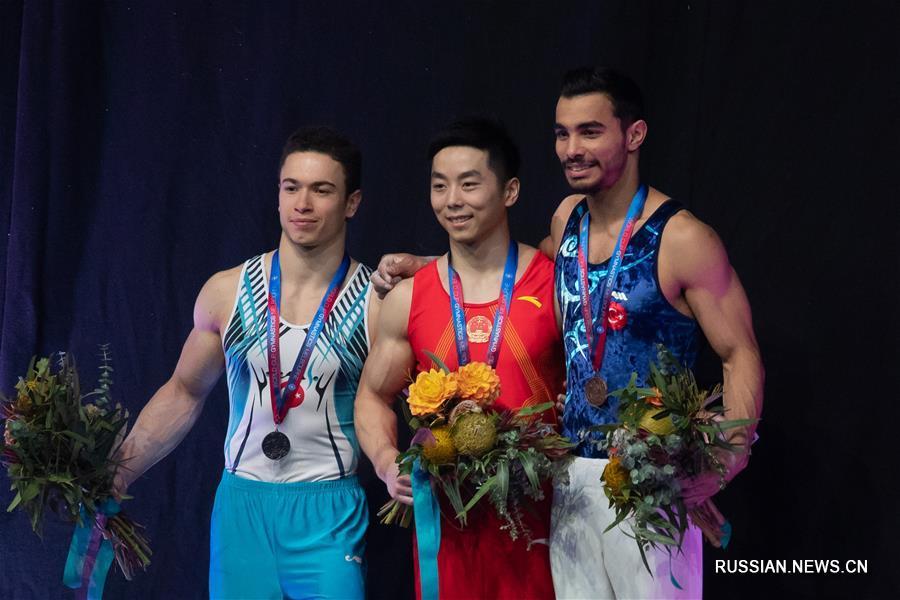 Спортивная гимнастика -- Кубок мира 2019, этап в Мельбурне: китаец Ю Хао победил в соревнованиях на брусьях