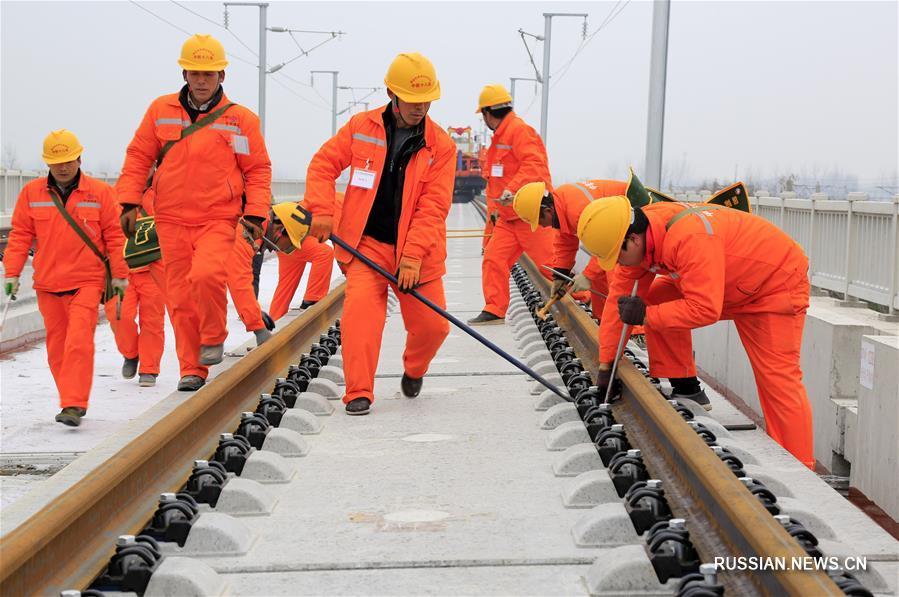 В Китае началась укладка рельсов высокоскоростной железной дороги Шанцю-Хэфэй-Ханчжоу