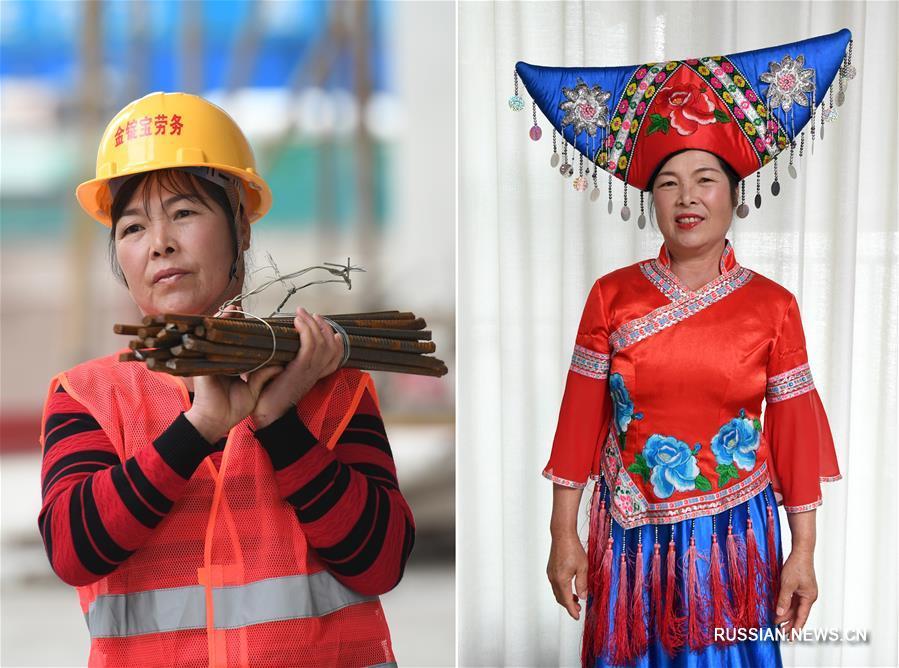 Чудесное праздничное преображение работниц строительной компании в Гуанси