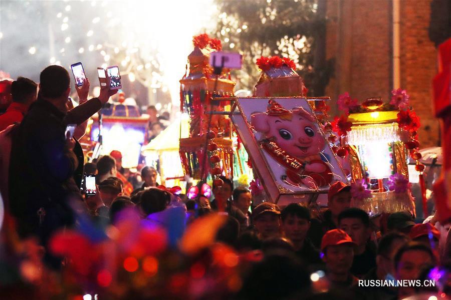 Фестиваль огней в уезде Хэнъян
