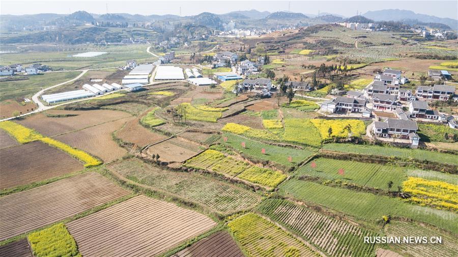 Живописные сельские пейзажи в солнечном Гуйчжоу