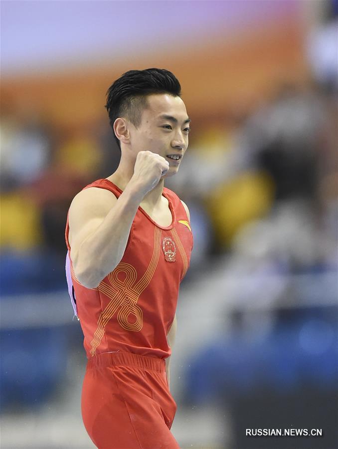 Спортивная гимнастика -- Кубок мира 2019, этап в Катаре: Цзоу Цзинъюань завовевал золото в упражнениях на брусьях