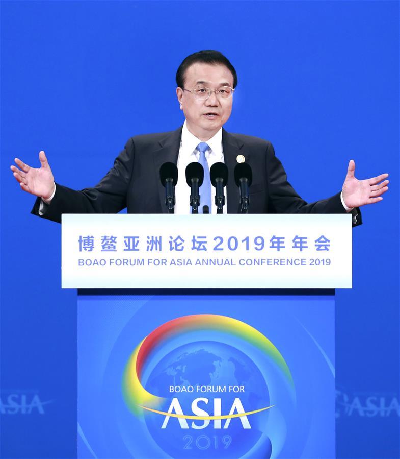Ли Кэцян выступил с речью на церемонии открытия годового совещания Боаоского азиатского форума-2019