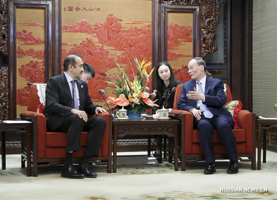 Ван Цишань встретился с председателем КНБ Казахстана К. Масимовым