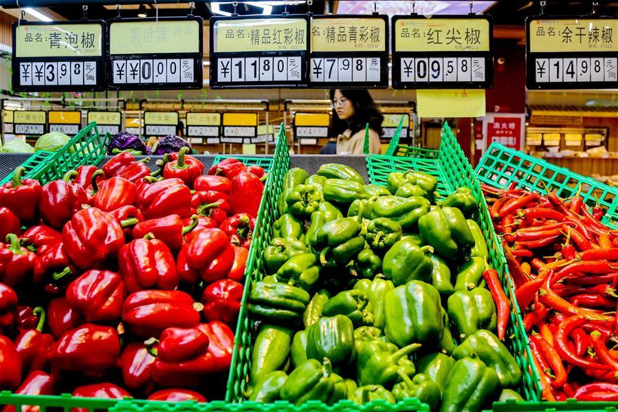 Потребительские цены в Китае в марте выросли на 2,3 проц по сравнению с прошлым годом