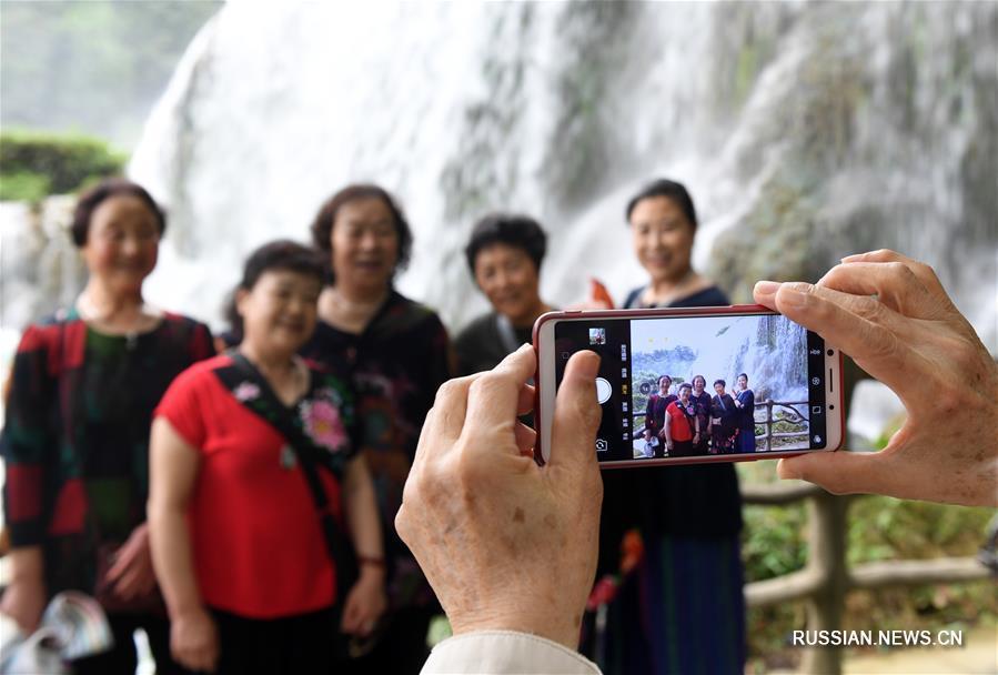 Весенняя экскурсия к водопаду Дэтянь