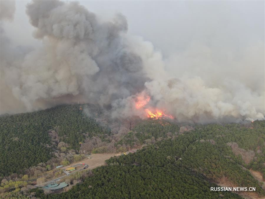 В провинции Ляонин вспыхнул пожар
