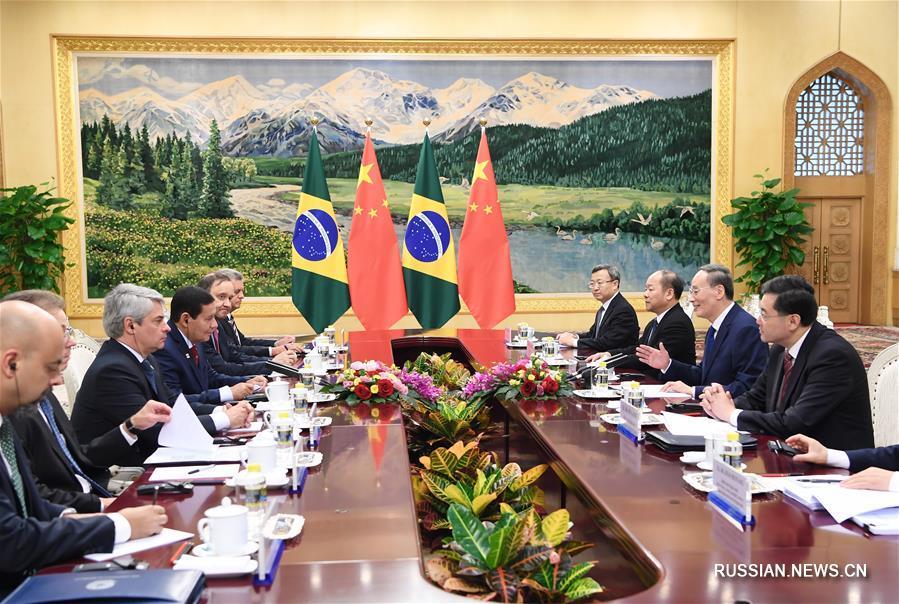 Ван Цишань и вице-президент Бразилии сопредседательствовали в Пекине на 5-м заседании Китайско-бразильской комиссии по координации и сотрудничеству на высоком уровне