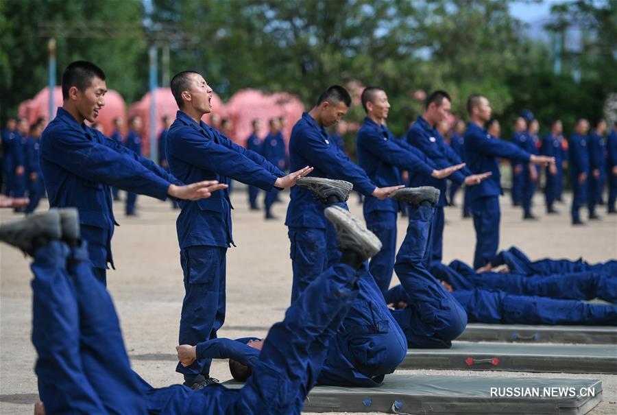 Масштабные тренировки китайских пожарных в АР Внутренняя Монголия