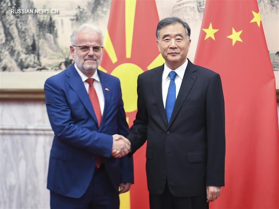 (时政)汪洋会见北马其顿议长扎费里