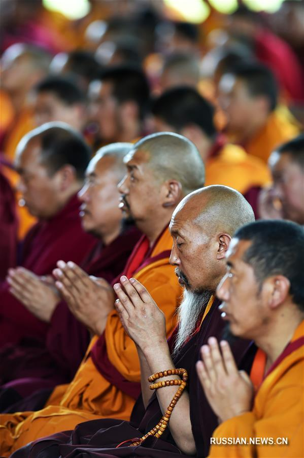 Панчен-лама 11-й провел религиозные обряды в монастыре Ташилунпо