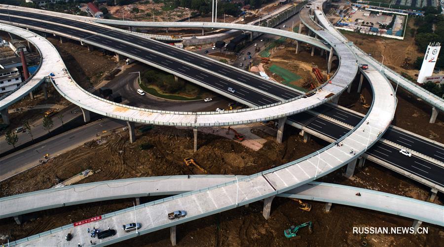 Завершено основное строительство новой транспортной развязки в Ухане