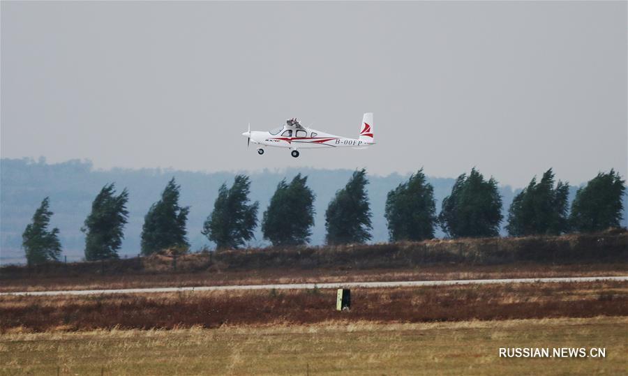 Разработанный в Китае четырехместный самолет с электрическим приводом совершил первый полет