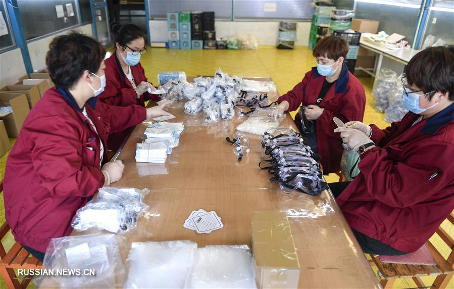 Предприятия на северо-востоке Китая наращивают мощности по производству противоэпидемических материалов