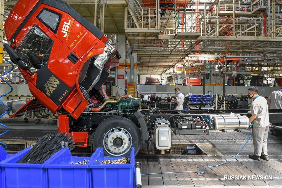 Объем продаж китайской автомобильной компании FAW превысил 1,6 млн единиц в первом полугодии