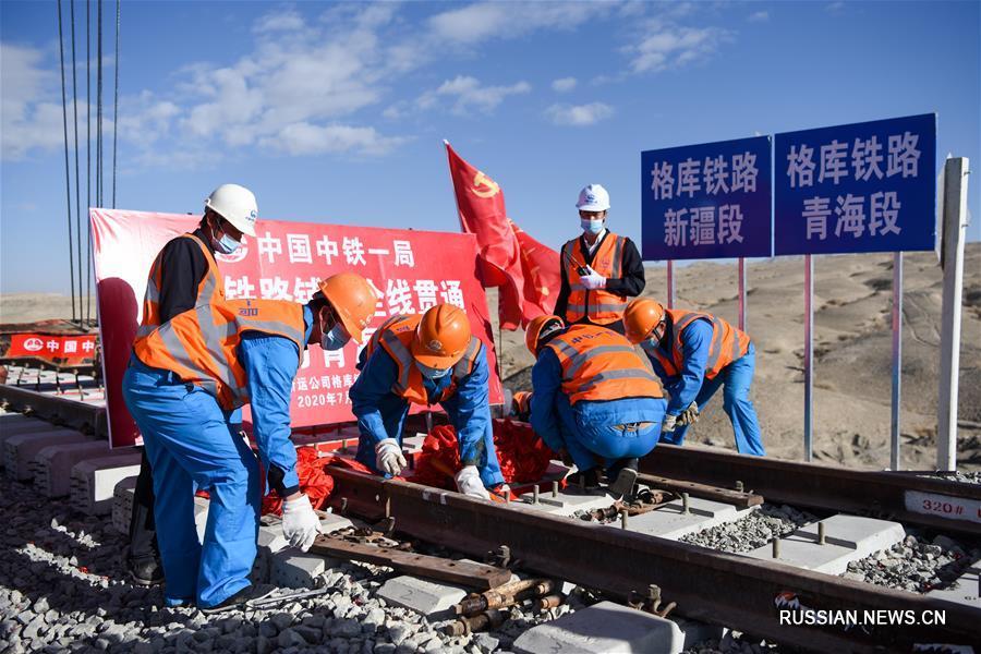 Завершена прокладка железной дороги Голмуд - Корла в Северо-Западном Китае