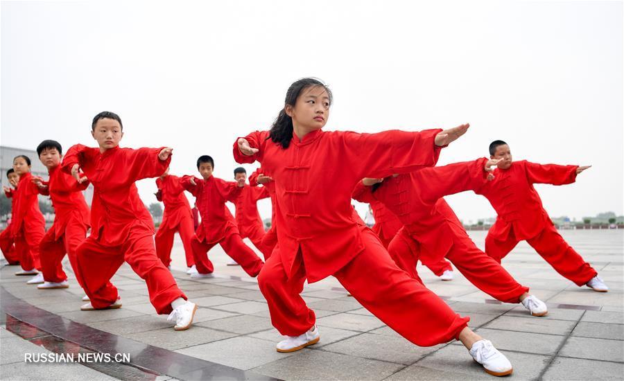 Занятия по ушу стиля саньхуанпаочуй в Хэншуе