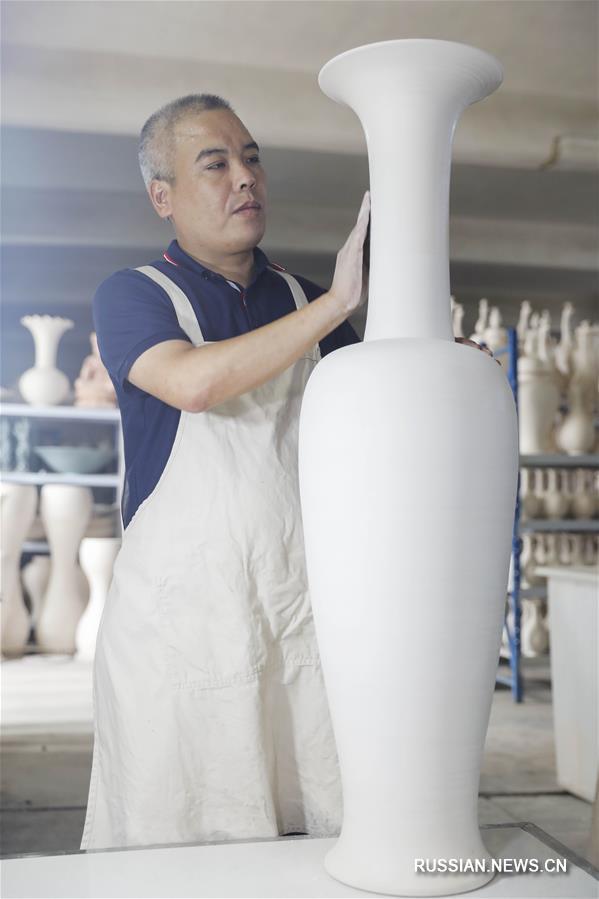 Развитие производства жучжоуского фарфора в уезда Баофэн