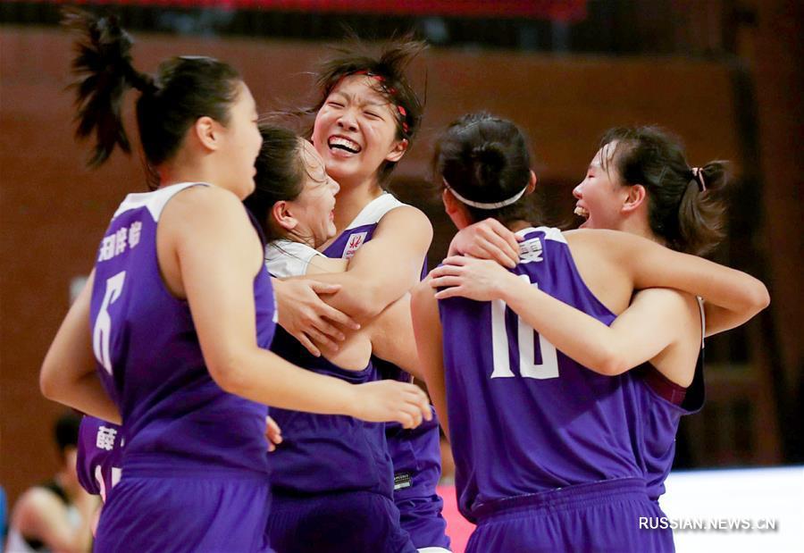 """Баскетбол -- Китайская школьная лига сезона 2019-2020, женский турнир: средняя школа при университете """"Цинхуа"""" завоевала чемпионство"""