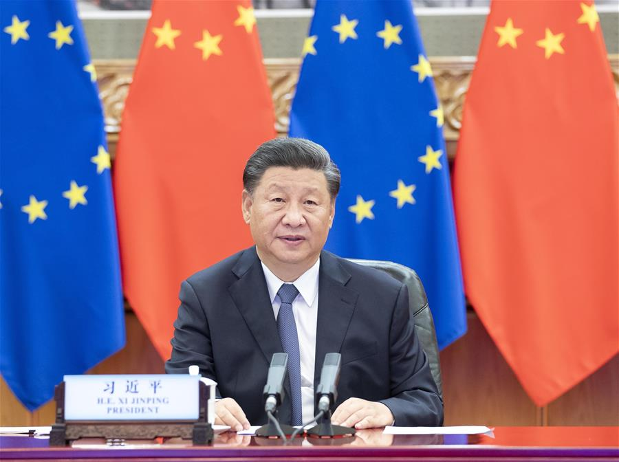 Си Цзиньпин и руководители Германии и ЕС провели совместную встречу в формате видеоконференции