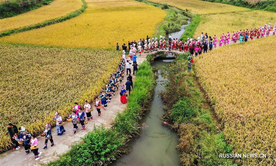 Праздник богатого урожая в Китае