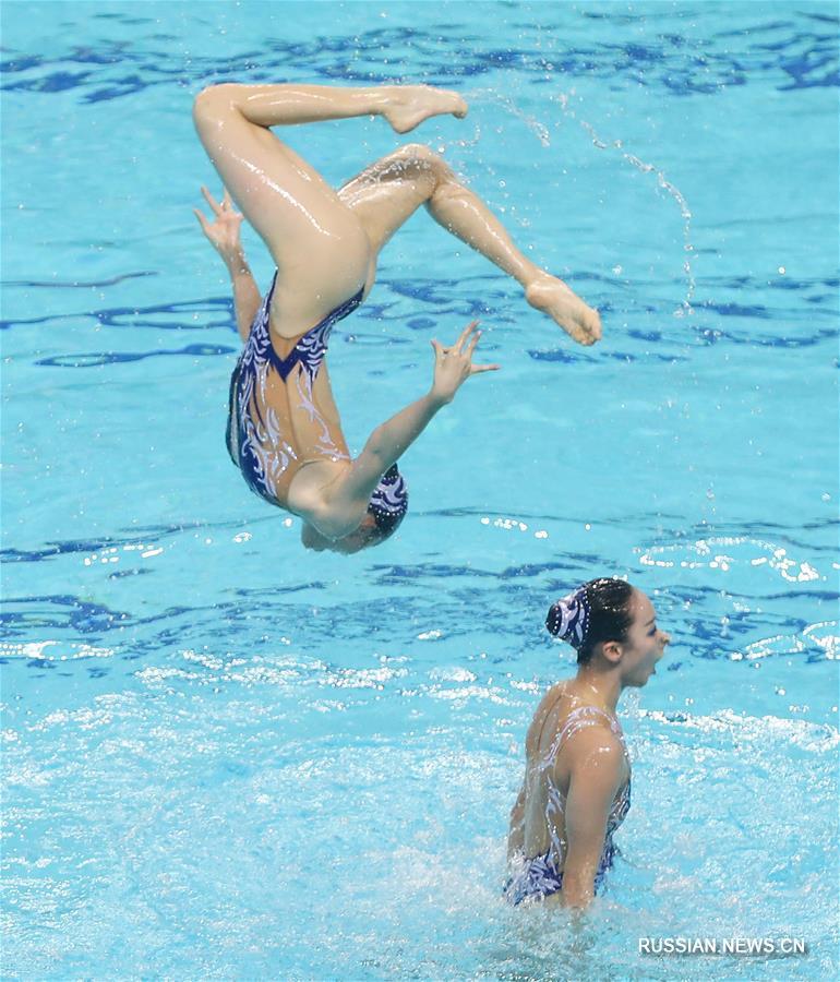 Синхронное плавание -- Чемпионат Китая 2020: команда Пекин-Цзянсу-Хубэй-Гуандун победила в произвольной программе групп