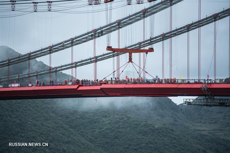 В провинции Гуйчжоу завершена стыковка моста Фэнлинь
