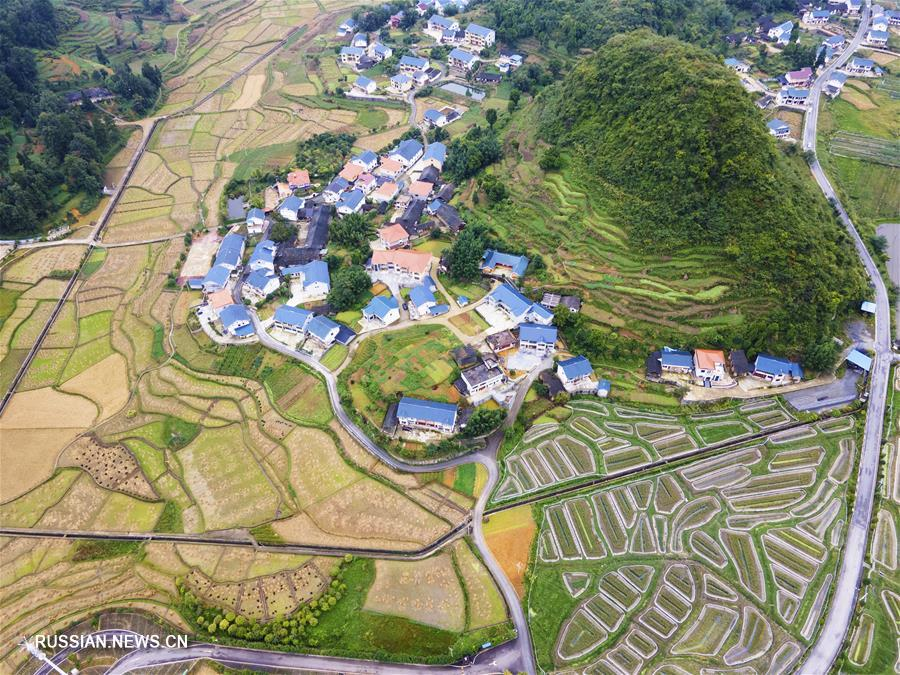 Живописная деревня Хуамао в провинции Гуйчжоу