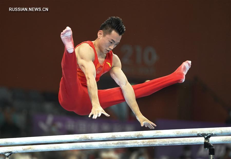 Спортивная гимнастика -- Всекитайское первенство -- 2020: параллельные брусья, финал