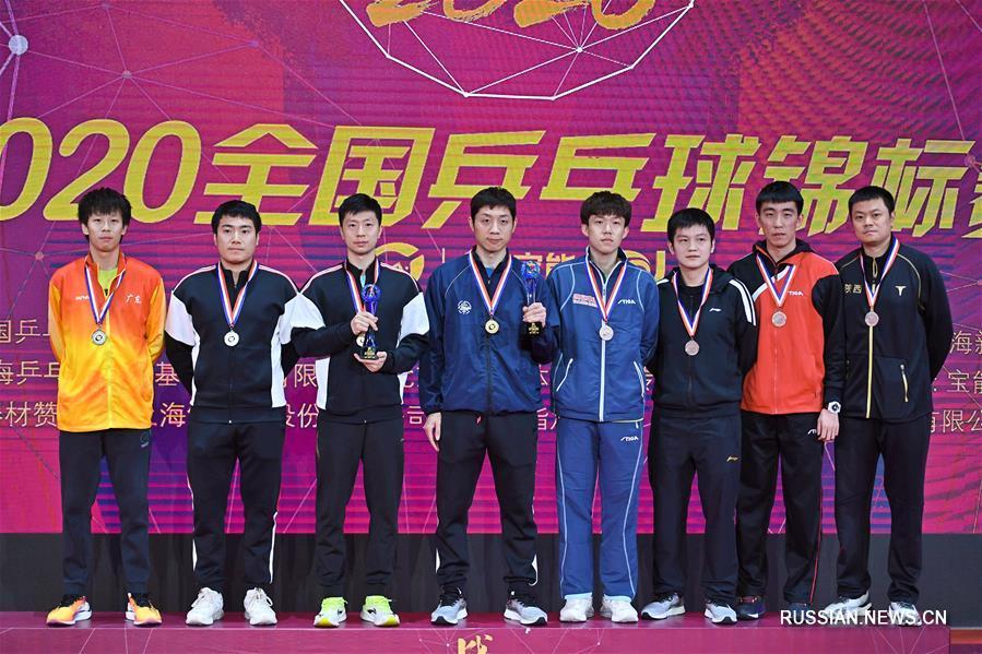 """Настольный теннис -- Чемпионат Китая 2020: Ма Лун и Сюй Синь завоевали """"золото"""" в мужском парном разряде"""