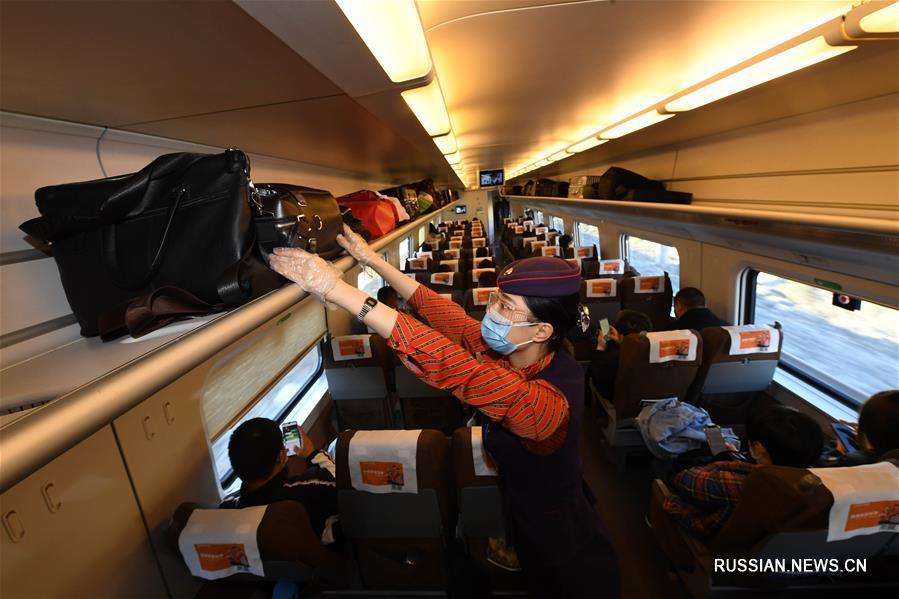 Отправился в путь первый высокоскоростной поезд прямого сообщения Урумчи -- Сиань