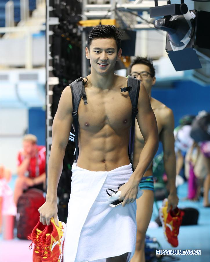"""(里约奥运会)(1)中国游泳队""""试水""""里约"""