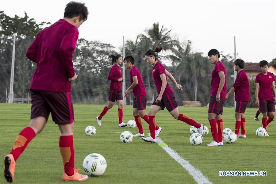 (里约奥运会)(1)中国女足里约开训