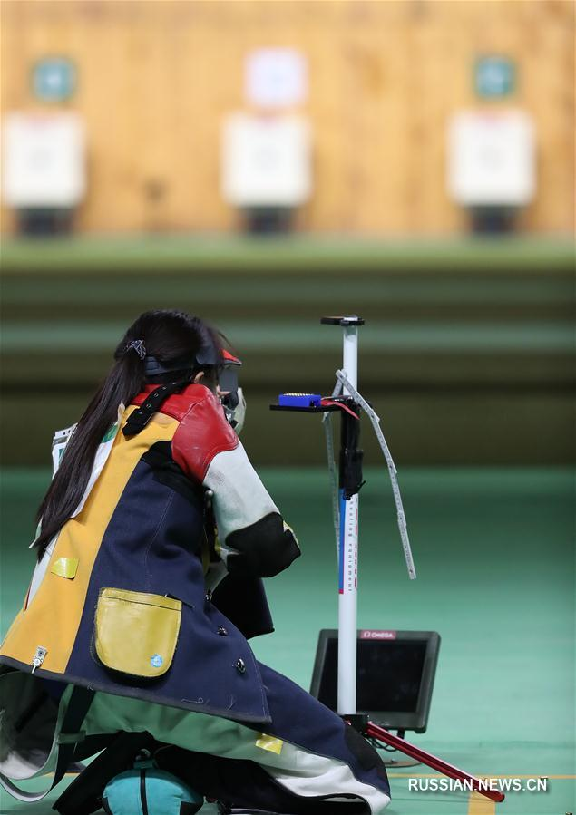 /Олимпиада-2016/ Чжан Биньбинь завоевала серебро в стрельбе из винтовки с трех позиций  с 50 метров на Олимпиаде-2016