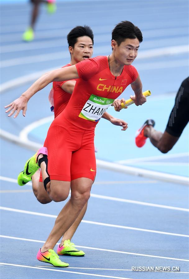 Мужская сборная Китая вышла в финал Олимпиады в эстафете 4x100 м