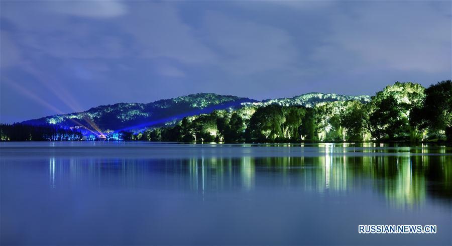 Ночная магия озера Сиху в Ханчжоу