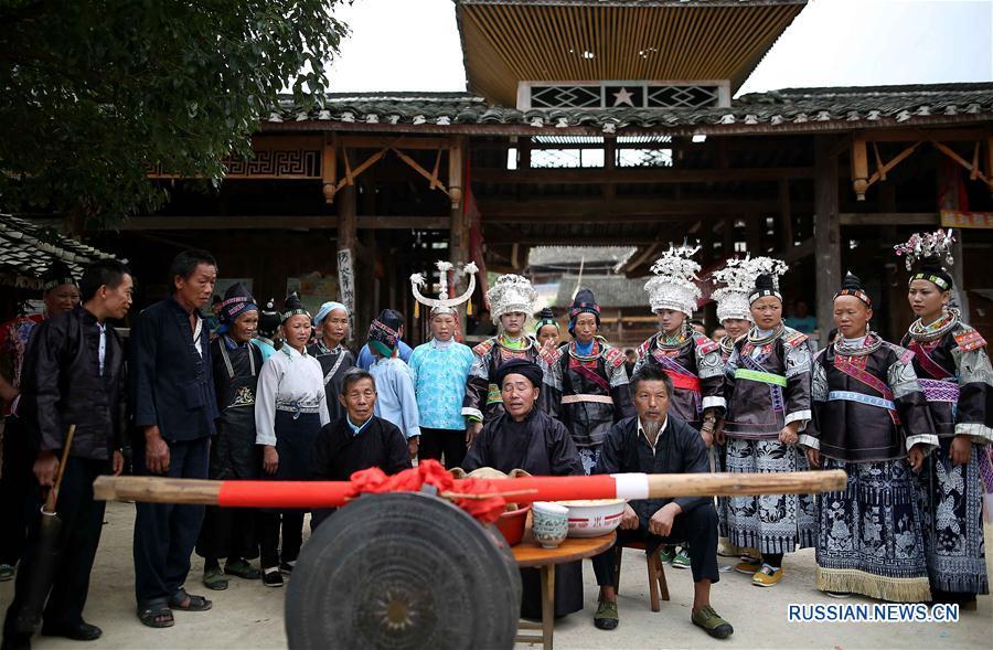 """Праздник народности мяо """"Чисиньцзе"""" в провинции Гуйчжоу"""