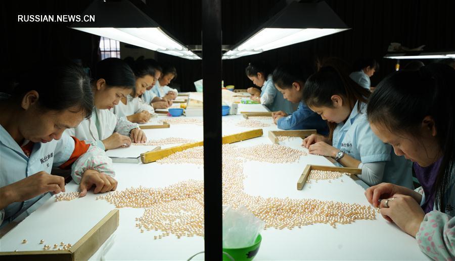 Жемчужные фермы в городе Чжуцзи