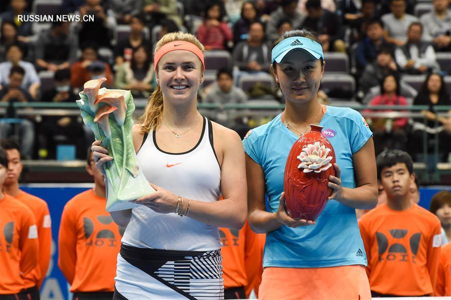 Пэн Шуай заняла второе место в женском одиночном разряде Тайбэйского открытого чемпионата  по теннису