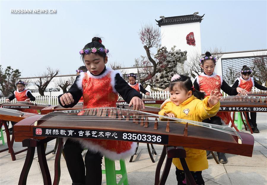 Культурный фестиваль цветов мэйхуа в провинции Цзянсу