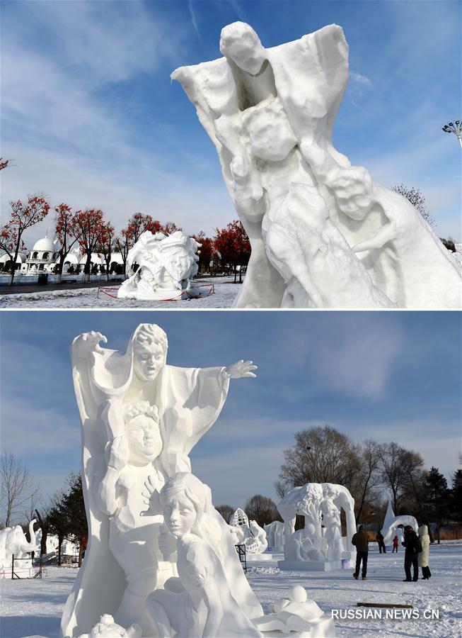 Харбин: снежные скульптуры сдаются весне