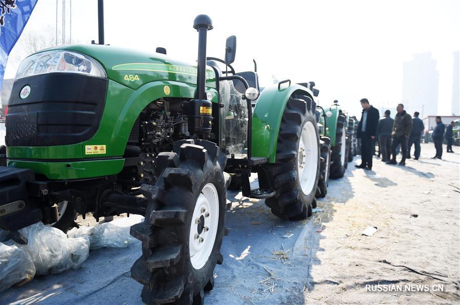 Сельхозтехника ждет начала весенних полевых работ в Хэйлунцзяне